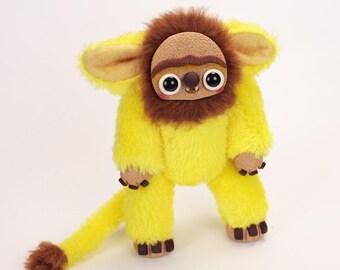 LION-posable art doll animal - fantasy creature - troll - art doll creature- ooak polymer clay doll - weird doll - odd doll- fantasy doll
