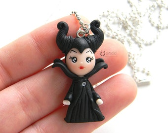 Evil Fimo, Maleficent inspired necklace, necklace