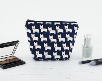 French Bulldog Makeup Bag, Makeup Bag, Cosmetic Bag, Toiletry Bag, Project Bag, Zipper Pouch, French Bulldog, Frenchie, Travel Bag