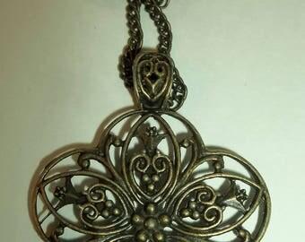 Bronze color Floral Pendant Necklace