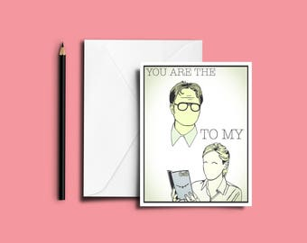 The Office Valentines Day Card - Valentines Card // Funny Valentines Day Card - Dwight and Angela Card - Romantic Card