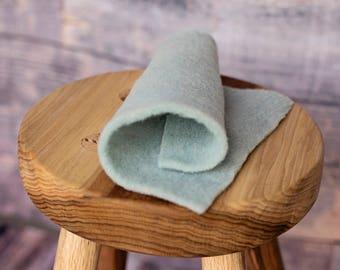 Rain Cloud Bluegrass Prefelt for needle felting - pale blue - domestic wool - handmade on a FeltLOOM
