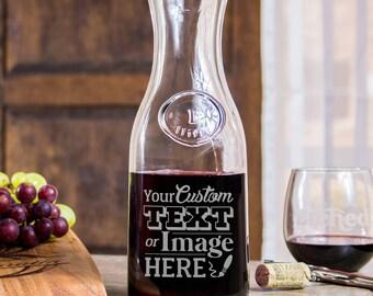 Retirement Gift, Wine Decanter, Engraved Wine Decanter, Gift Glass, Funny Wine Decanter, Wedding Wine Decanter, Monogram Wine Decanter