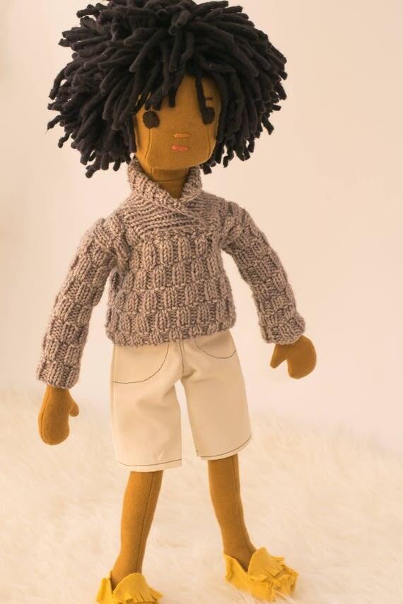 Boy Rag Doll with Wardrobe