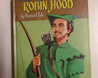 The Merry Adventures of Robin Hood by Howard Pyle Whitman Classics (1955) Vintage Hardcover Kids Book