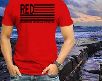RED Friday Shirt - RED - RED Friday- Remember Everyone Deployed