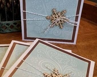 Embossed Snowflake Card, 4-pack