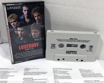 Loverboy Keep It Up cassette tape with lyric sheet 1983