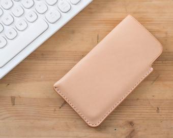 Natural Hermann Oak Leather iPhone Sleeve