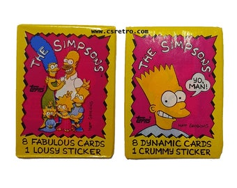 The Simpsons Vintage Antique Retro Trading Cards - Choose Style