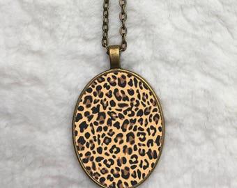 Leopard - Big O Necklace