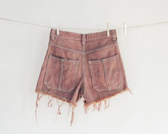 Up Cycled High Waisted cut off shorts