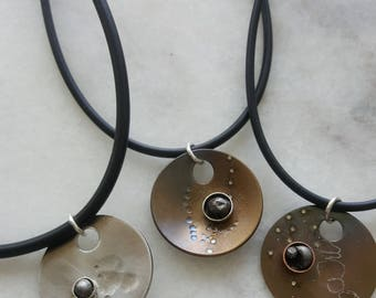 Geeky gifts for him - Meteorite Necklace