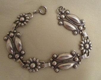 Bracelet Sterling Danish Modern Design Vintage