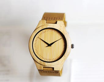 Handmade Wood Watch, Wooden Watch, Bamboo Wood Watch,Wood Watch,Mens watch, Groomsmen gift