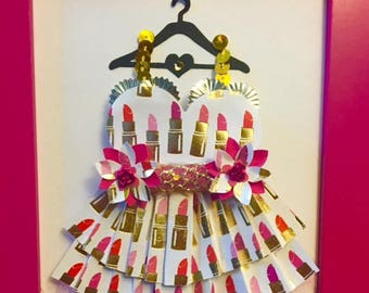 Lipstick Enchanted Paper Dress!