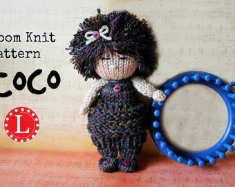 Loom Knitting PATTERNS Knit Dolls Toys Amigurumi  - Includes Video Tutorial by Loomahat