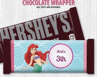 The Little Mermaid Chocolate Bar Wrapper