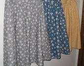 CUSTOM ORDER: STEPHANIE ~~ Three Cotton Skirts