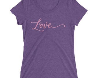 Love Script Ladies' Premium T-Shirt