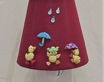 Make Way for Ducklings Charmed Plug-in Night Light - Baby or Children's room accent night light - Free Shipping - Adorable