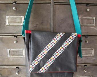 Customized leather satchel