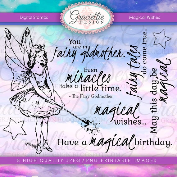 Graciellie Design Magical Wishes digi stamp set