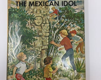 Vintage Happy Hollisters and the Mystery of the Mexican Idol by Jerry West, First Edition, 1967