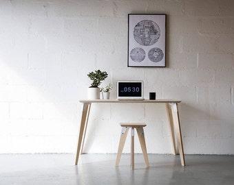 Desk, Office Desk, Plywood Desk, Study Desk,mid century, brutalist, pantone Modsys