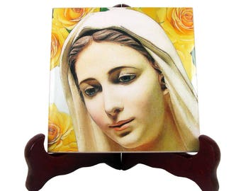 Religious gifts - Our Lady of Medjugorje - ceramic tile - religious icon - Catholic Gifts - Christian gifts - Virgin of Medjugorje