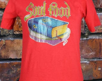 Soul Food Bible Vintage 1970s Glitter T-Shirt