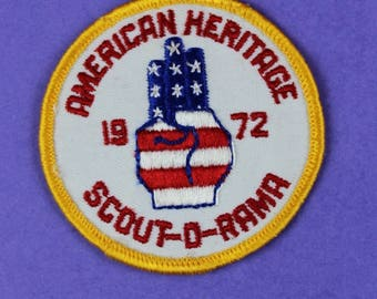 American Heritage Scout-O-Rama 1972 Vintage Boy Scout Patch