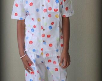 Finger Print Easter Pajama