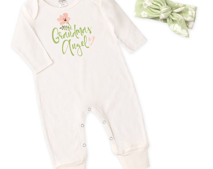 Grandma's Baby Girl Outfit, Newborn Baby Girl Coming Home Gift, Baby Girl Take Home Hospital Outfit Grandma Tesa Babe RH81IY59BPF-T282-1