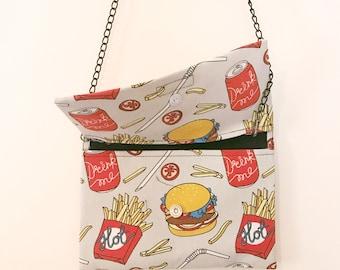 Handmade Burger & Fries Purse