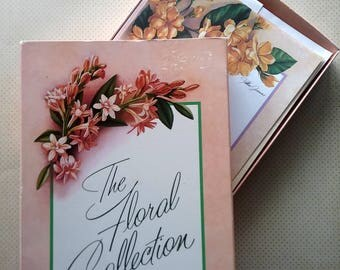 Vintage Stationery Set, Note Paper & Envelopes, Floral Collection notes, handwritten notes, old-fashioned correspondence, writing paper