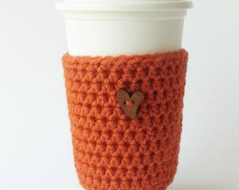 Coffee Cup Sleeve - Staff Appreciation - To Go Cup Sleeve - Reusable Coffee Sleeve - Heart Cozy - Teacher's Gift - Valentine's Gift