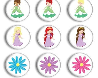Princess Magnet Sets - Princess Magnet - Princess Birthday Party - Party Favors - Pretend Play - Story Stones - Preschool Learning