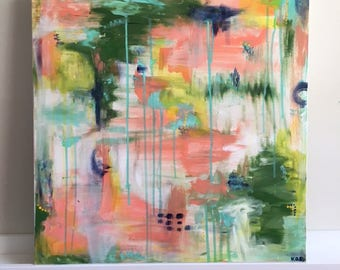 """Medium Abstract Painting Original Acrylic Art """"Some Things Take Time"""""""