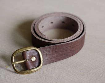 Leather Round Buckle