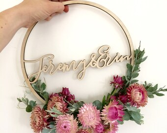 Bouquet Hoops - Customised timber laser cut bouquet hoops