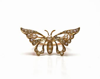 SOLD to D***14k Victorian Butterfly Ring