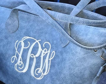Monogrammed faux leather totes Monogram faux leather Monogrammed Faux leather handbag Monogrammed tote Monogram tote Personalized Tote