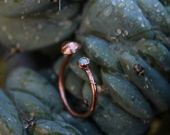 Labradorite Ring | Mushroom Ring | Mushroom Jewelry | Shrooms | Mushrooms | Copper Ring | Labradorite | Ready-To-ship