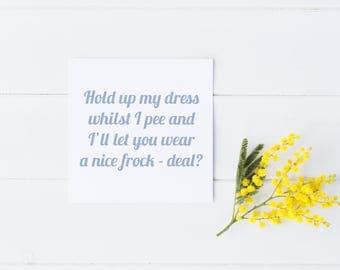 Be My Bridesmaid Card, Be My Maid of Honour Card, Be My Bridesmaid, Bridal Party Card, Bridesmaid Proposal, Funny Bridesmaid Card