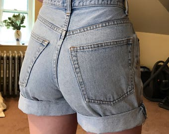 90s High Waisted Jean Shorts