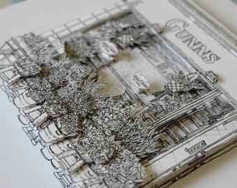 Gunns Florist 3D paper artwork