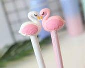 Flamingo gel pen   white or pink, or as a set of 2