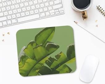 Banana Leaf Mouse Mats, Tropical Mousepad, Banana Leaf Mousepad, Office Supplies, Desk Decor, Photo Mouse Mat