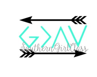 God is Greater Than the Highs and Lows Decal | Vinyl Decal | YETI | Car Decal | Window Decal | Phone Decal | Spiritual Decal